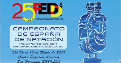 Campeonato de España de Natación FEDDI en Sevilla