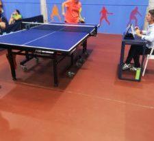 Jornada de liga de tenis de mesa en Manises